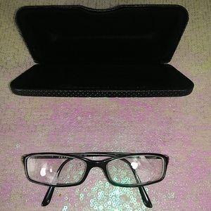 Prada women's eyeware black